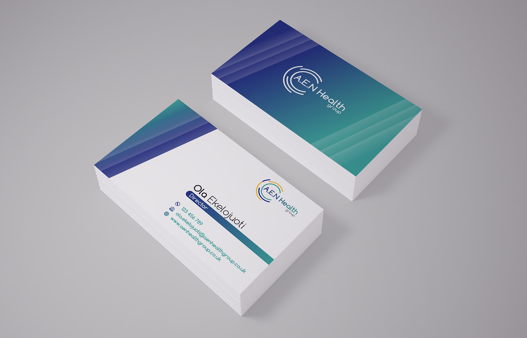 Aen health group business card