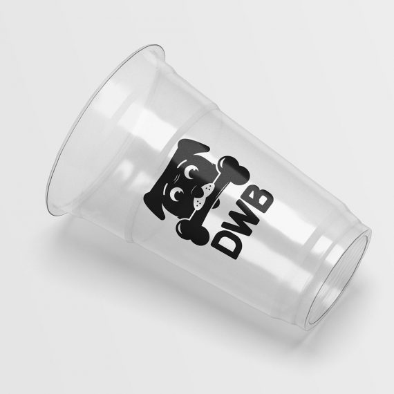 Dog with bone logo DWB